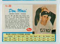 1962 Post Baseball 23 Don Mossi Detroit Tigers Very Good to Excellent