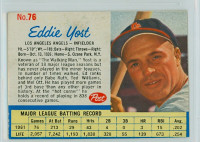 1962 Post Baseball 76 Eddie Yost Los Angeles Angels Excellent