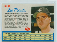 1962 Post Baseball 96 Leo Posada Kansas City Athletics Excellent to Mint