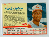 1962 Post Baseball 122 Frank Robinson Cincinnati Reds Very Good