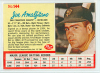 1962 Post Baseball 144 Joe Amalfitano Single Print San Francisco Giants Excellent