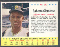 1963 Jello Baseball 143 Roberto Clemente Pittsburgh Pirates Excellent