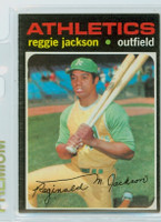 1971 Topps Baseball 20 Reggie Jackson Oakland Athletics Excellent to Mint