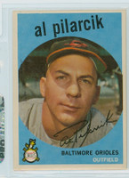 1959 Topps Baseball 7 Al Pilarcik Baltimore Orioles Excellent to Excellent Plus