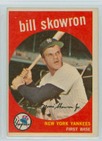 1959 Topps Baseball 90 Bill Skowron New York Yankees Excellent