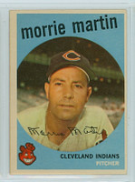 1959 Topps Baseball 38 Morrie Martin Cleveland Indians Excellent to Excellent Plus
