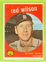 1959 Topps Baseball 24 Red Wilson Detroit Tigers Excellent to Mint