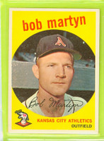 1959 Topps Baseball 41 Bob Martyn Kansas City Athletics Excellent to Mint