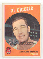 1959 Topps Baseball 57 Al Cicotte Cleveland Indians Excellent to Mint
