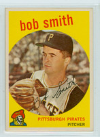 1959 Topps Baseball 83 Bob Smith Pittsburgh Pirates Excellent to Mint