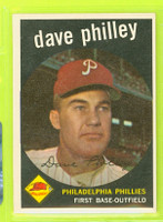 1959 Topps Baseball 92 Dave Philley Philadelphia Phillies Excellent to Mint