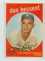 1959 Topps Baseball 71 Don Bessent Los Angeles Dodgers Near-Mint