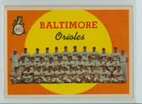 1959 Topps Baseball 48 Orioles Team Very Good to Excellent