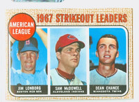 1968 Topps Baseball 12 AL Strikeout Leaders Excellent to Mint