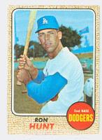 1968 Topps Baseball 15 Ron Hunt Los Angeles Dodgers Near-Mint