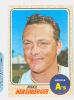 1968 Topps Baseball 18 Mike Hershberger Oakland Athletics Near-Mint