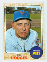 1968 Topps Baseball 27 Gil Hodges New York Mets Excellent to Mint