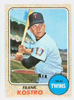 1968 Topps Baseball 44 Frank Kostro Minnesota Twins Near-Mint