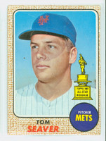 1968 Topps Baseball 45 Tom Seaver New York Mets Fair to Good