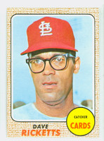 1968 Topps Baseball 46 Dave Ricketts St. Louis Cardinals Near-Mint
