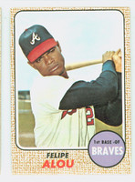 1968 Topps Baseball 55 Felipe Alou Atlanta Braves Near-Mint