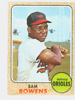 1968 Topps Baseball 82 Sam Bowens Baltimore Orioles Near-Mint