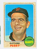 1968 Topps Baseball 85 Gaylord Perry San Francisco Giants Good to Very Good