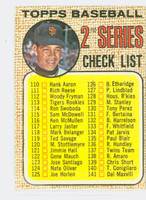 1968 Topps Baseball 107 b Checklist Two WIDE MESH  Good to Very Good