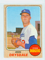 1968 Topps Baseball 145 Don Drysdale Los Angeles Dodgers Fair to Good