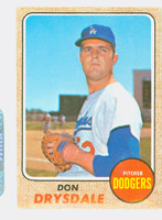 1968 Topps Baseball 145 Don Drysdale Los Angeles Dodgers Very Good