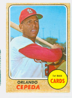 1968 Topps Baseball 200 Orlando Cepeda St. Louis Cardinals Fair to Poor