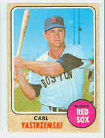 1968 Topps Baseball 250 Carl Yastrzemski Boston Red Sox Fair to Good