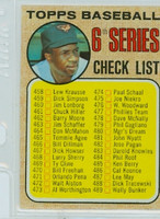 1968 Topps Baseball 454 b Checklist Six NO CHAIN  Excellent to Excellent Plus