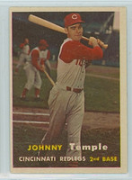 1957 Topps Baseball 9 Johnny Temple Cincinnati Reds Excellent to Mint