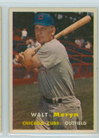 1957 Topps Baseball 16 Walt Moryn Chicago Cubs Excellent to Excellent Plus