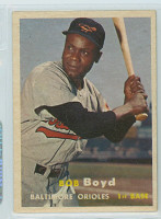 1957 Topps Baseball 26 Bob Boyd Baltimore Orioles Excellent to Excellent Plus