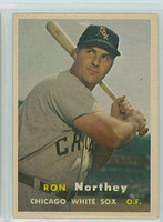 1957 Topps Baseball 31 Ron Northey Chicago White Sox Excellent to Mint
