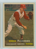 1957 Topps Baseball 32 Hershell Freeman Cincinnati Reds Excellent to Mint