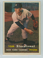 1957 Topps Baseball 34 Tom Sturdivant New York Yankees Excellent