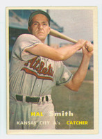 1957 Topps Baseball 41 Hal W. Smith Kansas City Athletics Very Good to Excellent