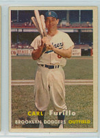 1957 Topps Baseball 45 Carl Furillo Brooklyn Dodgers Very Good to Excellent