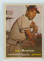 1957 Topps Baseball 48 Bill Bruton Milwaukee Braves Excellent to Mint