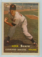 1957 Topps Baseball 50 Herb Score Cleveland Indians Excellent to Mint