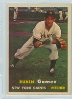 1957 Topps Baseball 58 Ruben Gomez New York Giants Very Good to Excellent