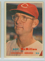 1957 Topps Baseball 69 Roy McMillan Cincinnati Reds Excellent to Mint