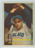 1957 Topps Baseball 74 Vito Valentinetti Chicago Cubs Very Good to Excellent