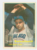 1957 Topps Baseball 74 Vito Valentinetti Chicago Cubs Excellent