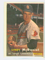 1957 Topps Baseball 79 Lindy McDaniel ROOKIE St. Louis Cardinals Very Good to Excellent