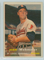 1957 Topps Baseball 81 Herman Wehmeier St. Louis Cardinals Excellent