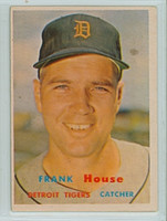 1957 Topps Baseball 223 Frank House Detroit Tigers Very Good to Excellent